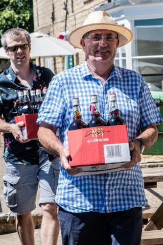 Mike and the all important Pimms