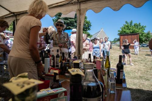 The queue for the Tombola